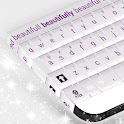 White and Purple Keyboard icon