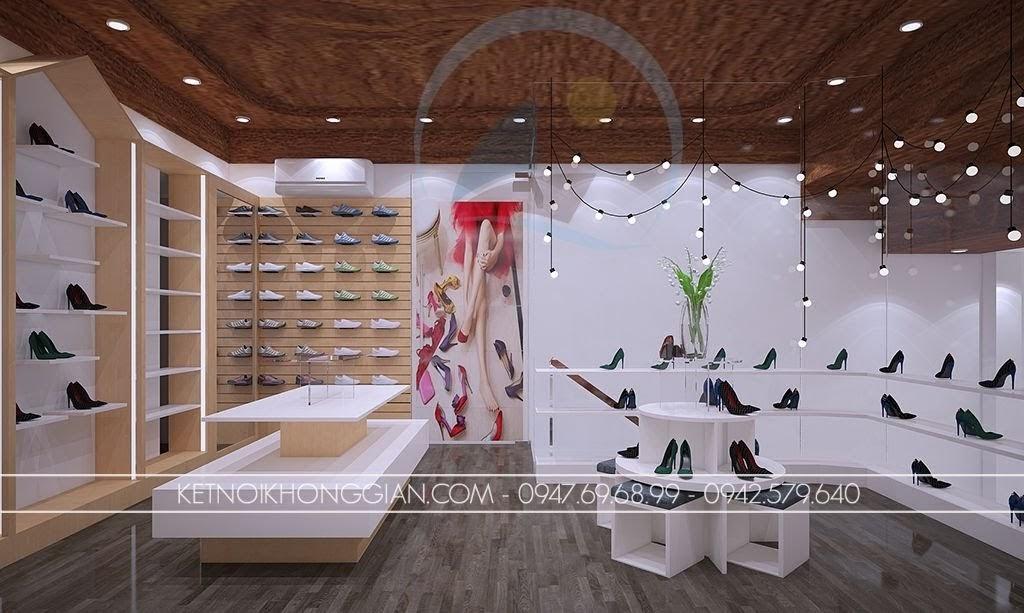 thiết kế shop giày dép thoáng đẹp