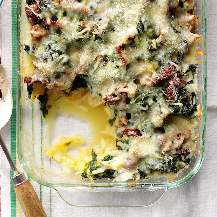 Mozzarella & Spinach Breakfast Casserole Recipe