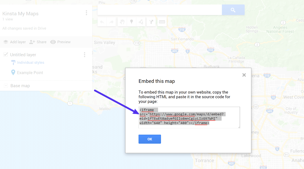 Embed Code of My Map
