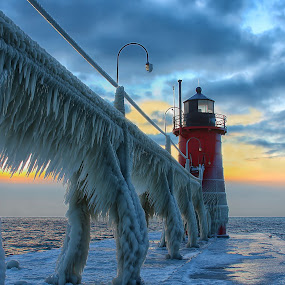 Ice Beast by Charles Anderson Jr - Landscapes Waterscapes