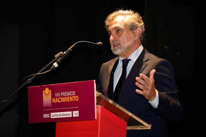 Ángel Escobar, vicepresidente de la Diputación de Almería, ha intervenido en la recta final del acto.