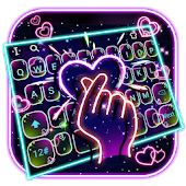 Vivid Neon Finger Love Keyboard Android APK Download Free By Bs28patel