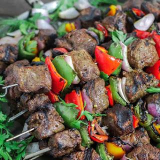 Beef Shish Kabob in Red Wine Marinade