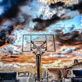 Storm Hoops by Francis Hesse - City,  Street & Park  Street Scenes ( california, basket ball, los angeles, pwcstorm )