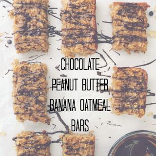 Chocolate Peanut Butter Banana Oatmeal Bars.