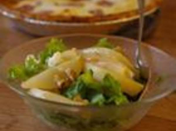 Salad With Prosciutto, Caramelized Pears, & Walnuts Recipe