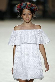 défilé mode enfant Condor look bohème fille