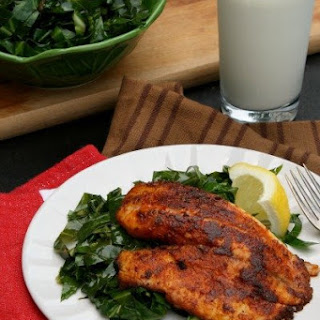 Blackened Tilapia w/ Quick Collard Greens
