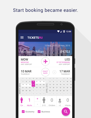 Tickets.ru Air tickets - screenshot