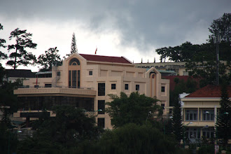 Photo: Year 2  Day 16  -  Building Overlooking Xuan Huong Lake and an Ominous Sky