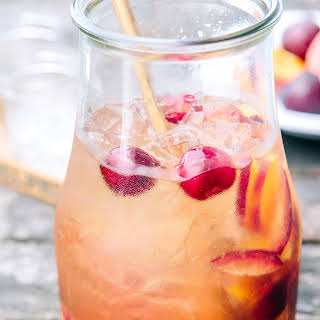 White Sangria with Peaches & Plums.