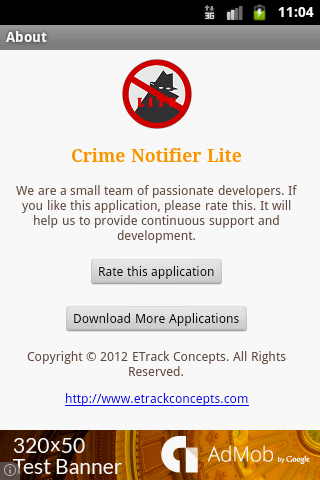 Crime Notifier Lite- screenshot