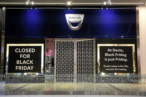 Dacia closed its pop-up store in the UK in protest at the Black Friday craziness.