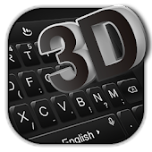 3D Simple Business Black Keyboard Theme