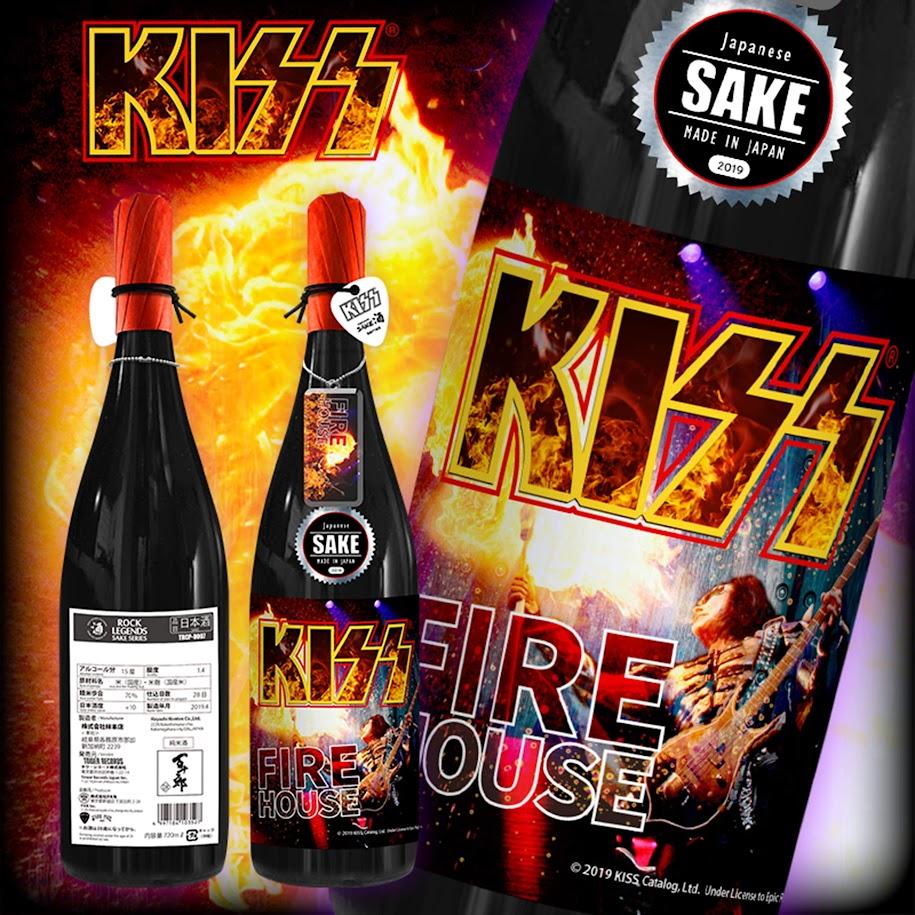 [迷迷音樂]搖滾傳奇 KISS 聯名日本酒  四款酒標帥爆
