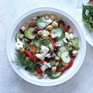 Greek Cucumber and Chickpea Breakfast Bowl.