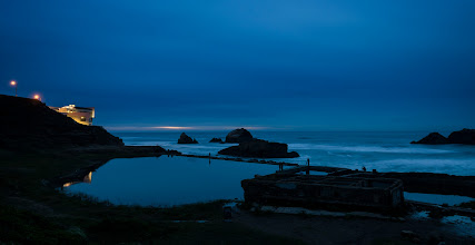 Photo: Closing Credits San Francisco, CA. 2012.  Sutro Baths, tonight after the sunset was over. Even though it was a monday there was significant traffic throughout the ruins of this old bath house, I think it was a photo class from one of the local colleges.  #bluehour