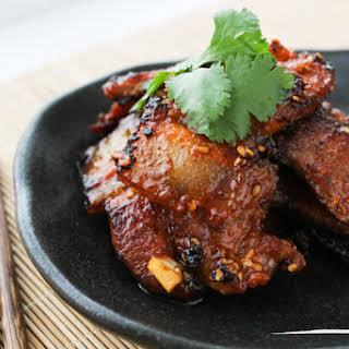 Korean Style Pan-fried Pork Belly.