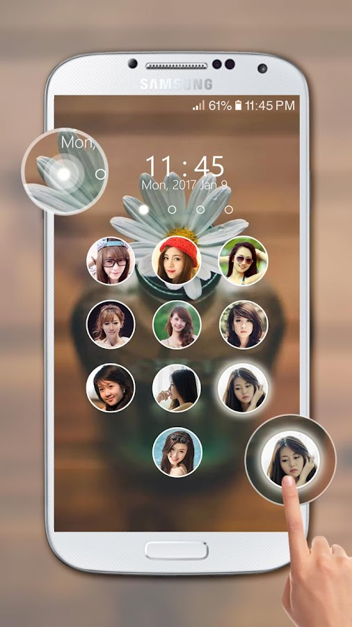 photo keypad lockscreen- screenshot
