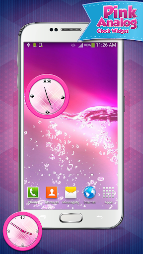 工具必備免費app推薦|粉红色的模拟时钟小工具線上免付費app下載|3C達人阿輝的APP