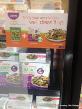Photo: There was even a sign on the freezer indicating that you add your own lettuce and let Lean Cuisine dress it up.