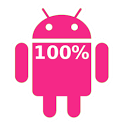 Pink Android Battery icon