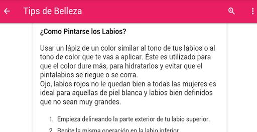 Tips De Belleza Screenshot