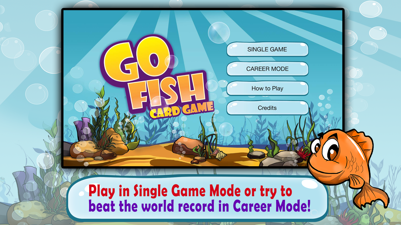 Go fish kids card game free android apps on google play for Fish card game