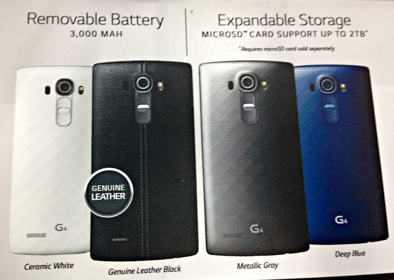 Removable Battery and Expandable Storage are just two features of the new LG G4