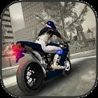 Invierno ciudad Moto Bike Race icon