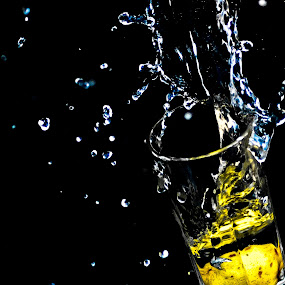 splashy lemon by Aravindh Ganesh - Abstract Fine Art ( splash, nikon, lemon )