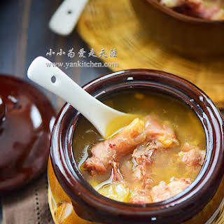 Chicken Soup with Ham, Pearl Barley and Lima Beans.