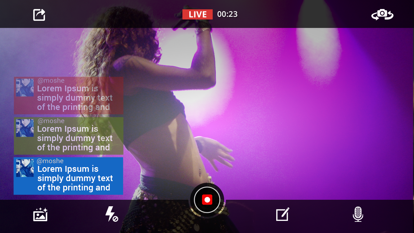 Screenshots of Live on YouTube for iPhone