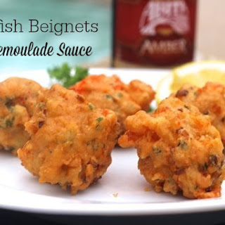 Crawfish Beignets with Remoulade Sauce.