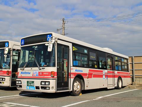 西鉄 9802 西鉄愛宕浜営業所にて