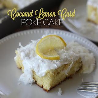 Coconut & Lemon Curd Poke Cake