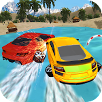 Float Water Surfer Drive Car Icon