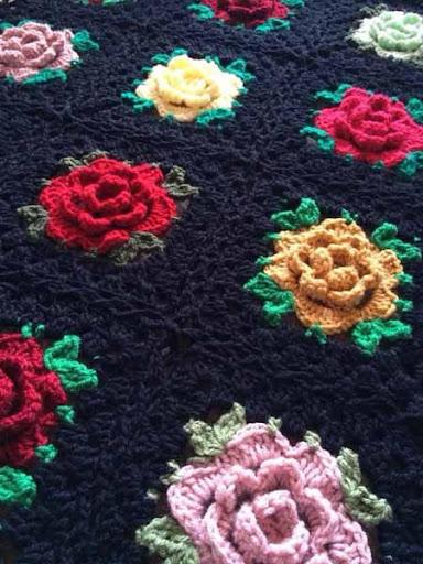 DIYのかぎ針編みの毛布