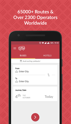 redBus - Online Bus Ticket Booking 7.7.3 screenshots 1