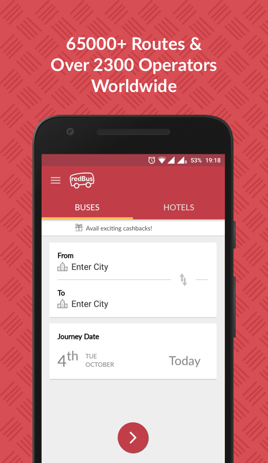 Screenshots of redBus - Bus and Hotel Booking for iPhone