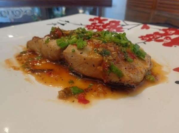 Sweet And Spicy Braised Mahi Mahi.