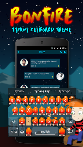mod Bonfire Theme&Emoji Keyboard 2.5 screenshots 1