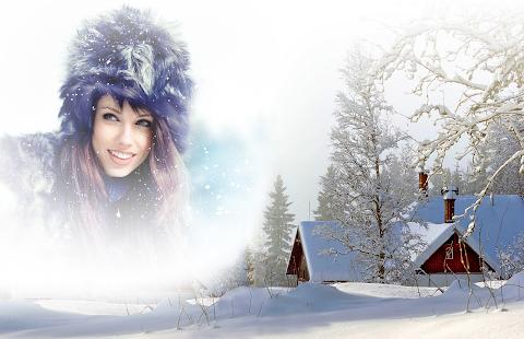 Winter Snow Photo Frames - náhled