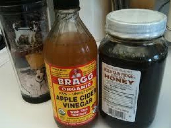 Mix honey, ginger and cayenne into a paste then add vinegar and water.