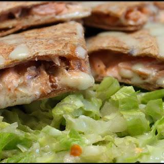 Grilled Salmon Quesadillas w/ Honey Wasabi Sauce