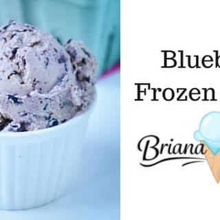 Blueberry Frozen Yogurt.