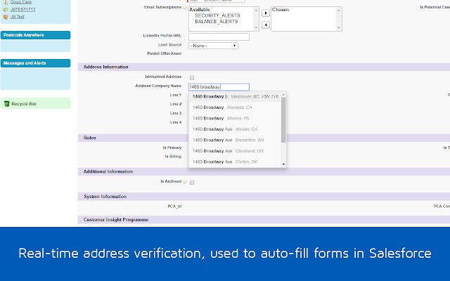 PCA Predict Real-time Address Verification
