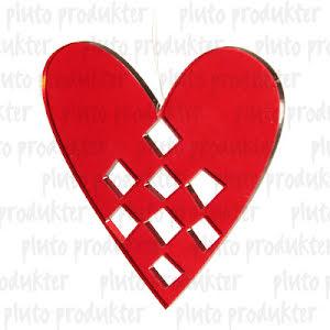 Hjärta Plexiglas 2-pack