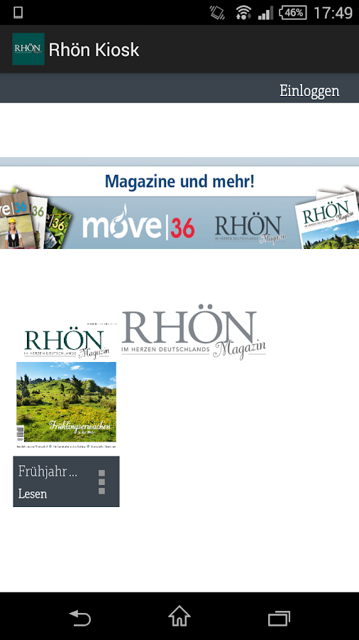Rhön Magazin- screenshot